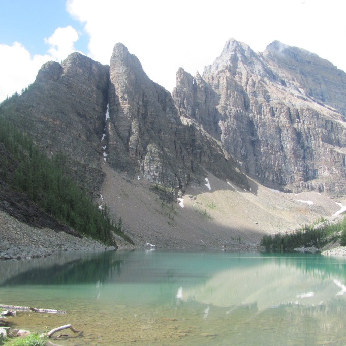 The view of Lake Agnes