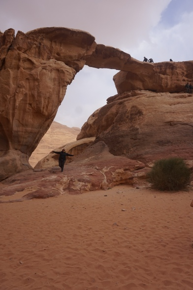 REI Windstopper jacket lived up to its name in Wadi rum, Jordan. Pants by Columbia