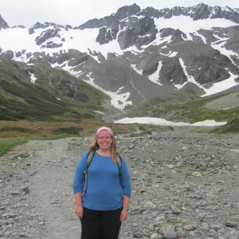 Hiking the trail near Marital Glacier